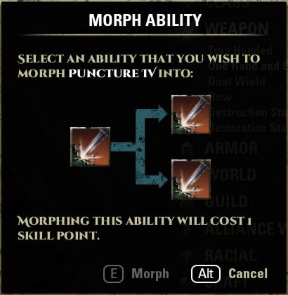 Morph Ability Skill