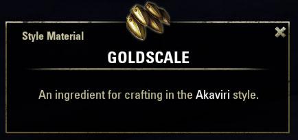 Akaviri Style Material Goldscale