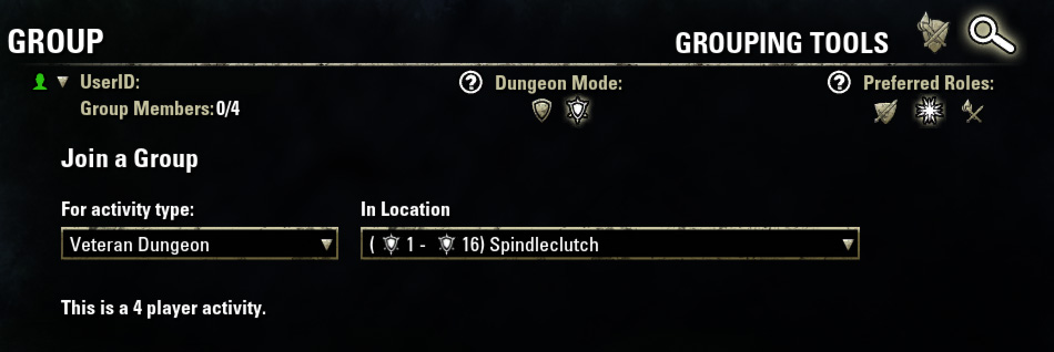 Group Finder ESO