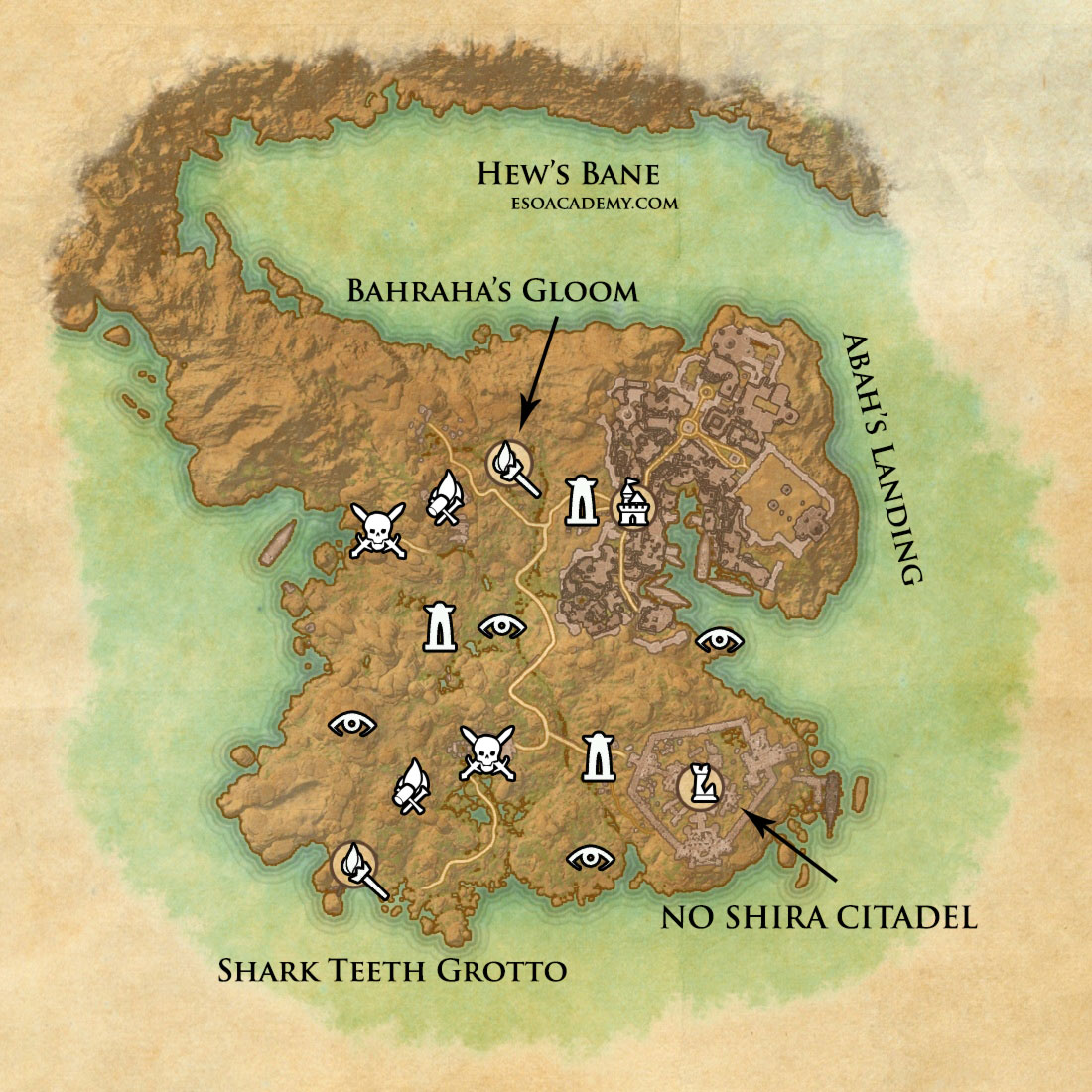 Map of Hew's Bane