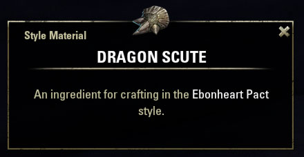 Ebonheart Pact Style Material Dragon Scute