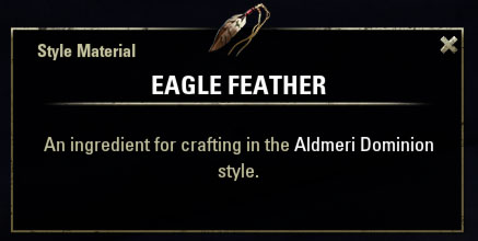 Aldmeri Dominion Style Material Eagle Feather