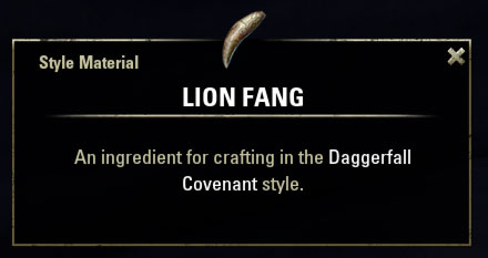 Daggerfall Covenant Style Material Lion Fang