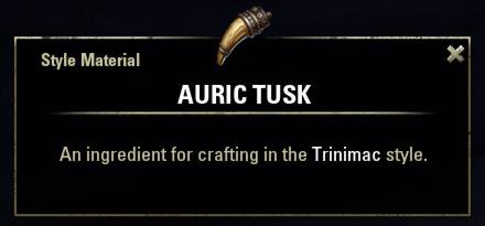 Trinimac Style Material Auric Tusk