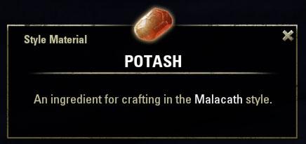 Malacath Style Material Potash